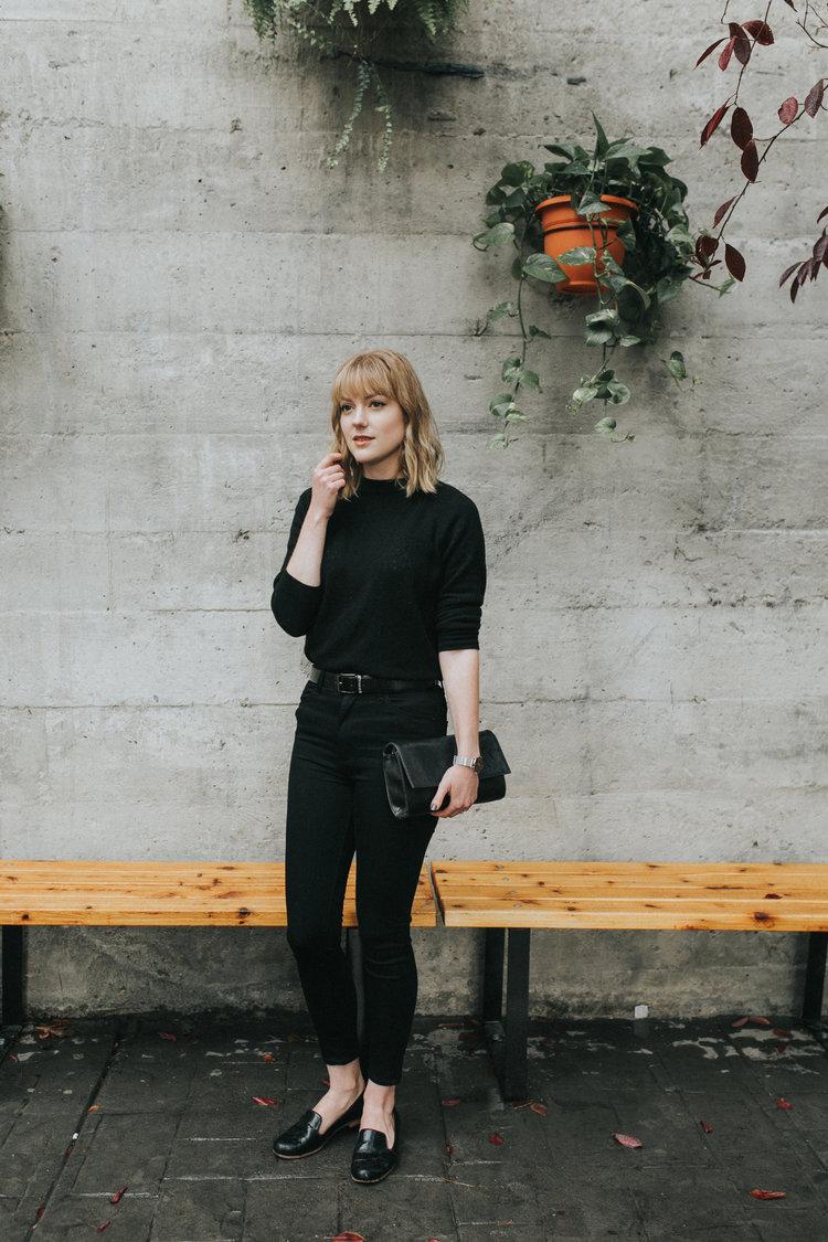 Ally Tran in Just Black Denim - BP12J in Black