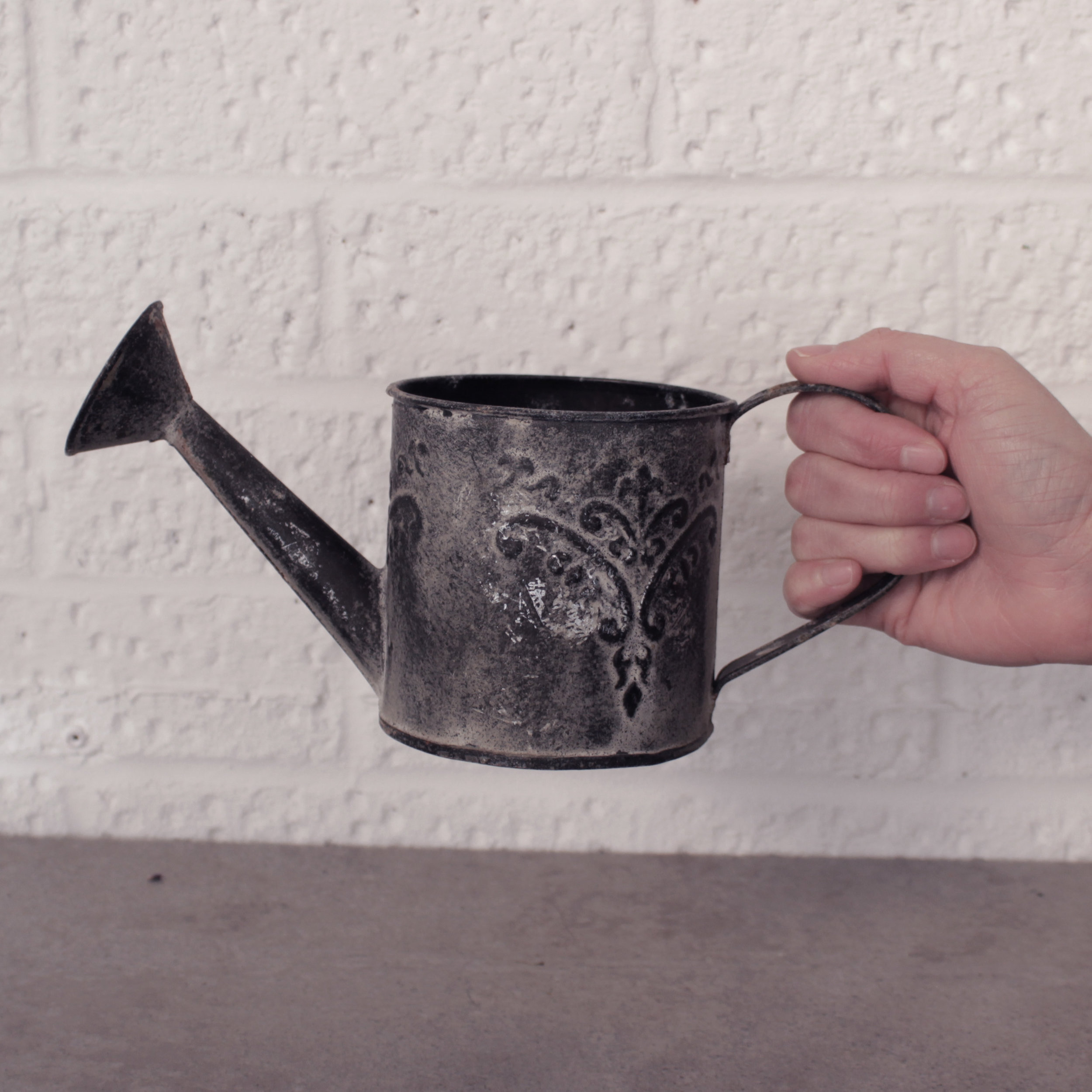 FRENCH ZINC WATERING CAN £2.50