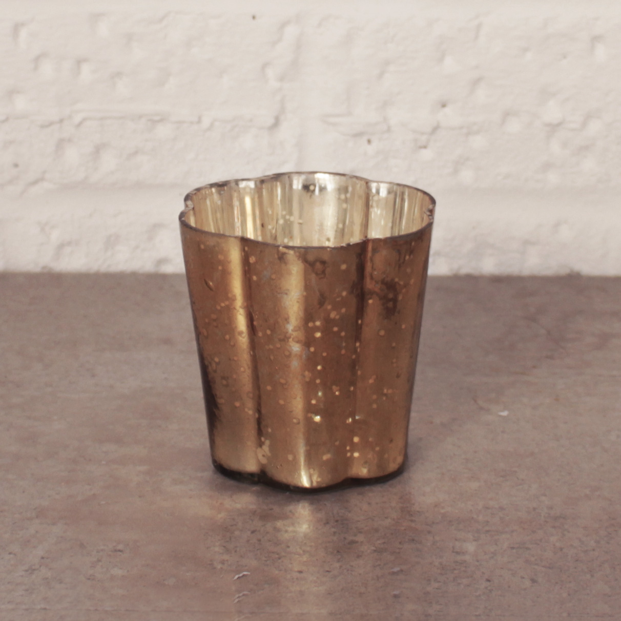 GOLD MERCURY CANDLE HOLDERS £1.50