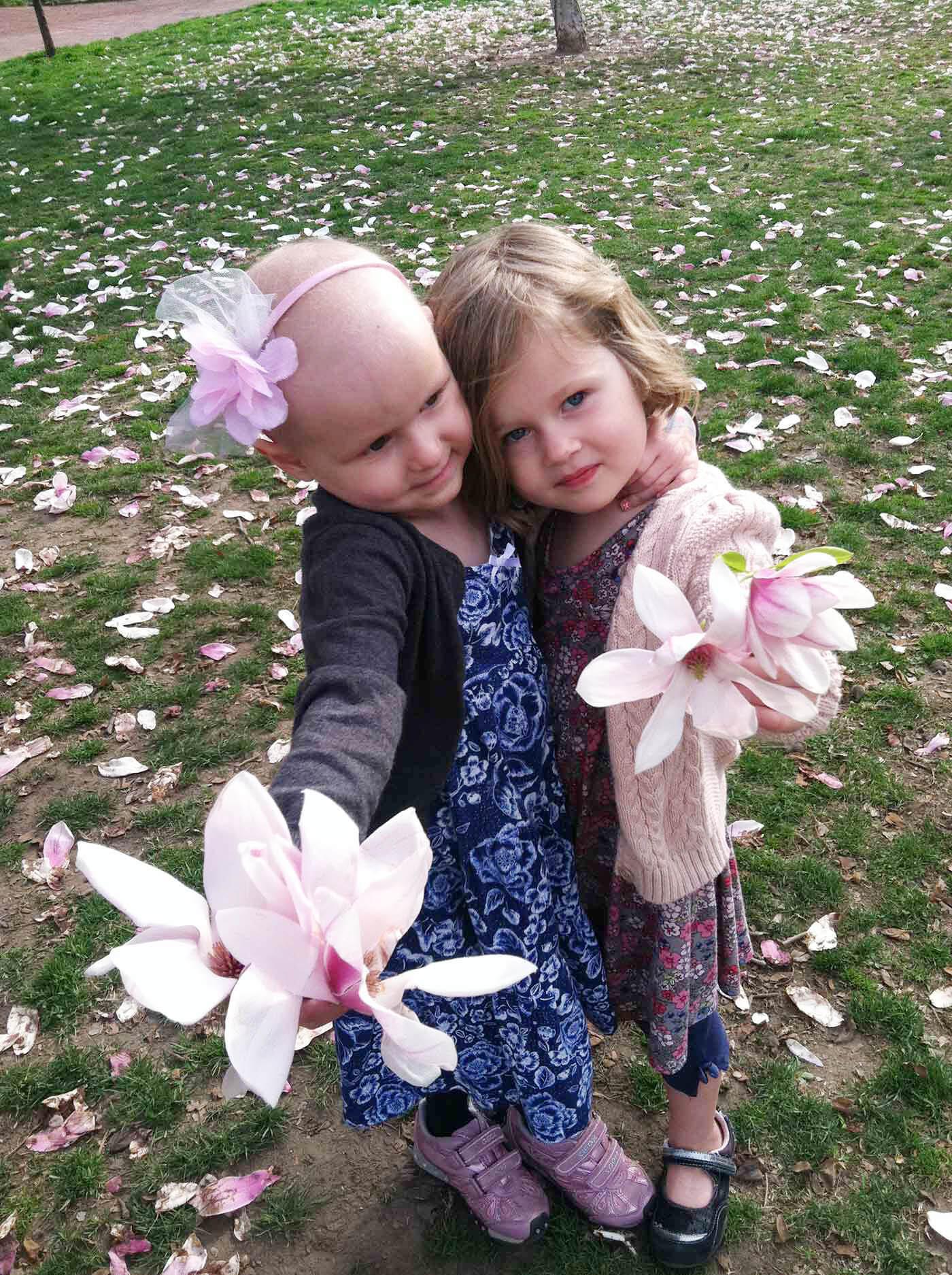 Ella & Molly during Ella's battle with cancer