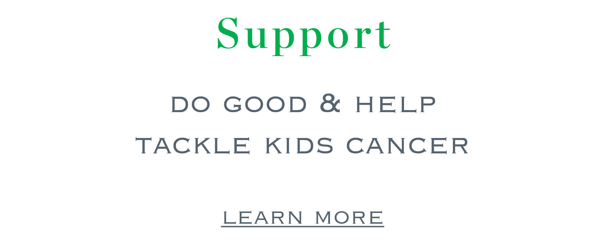 Support Tackle Kids Cancer