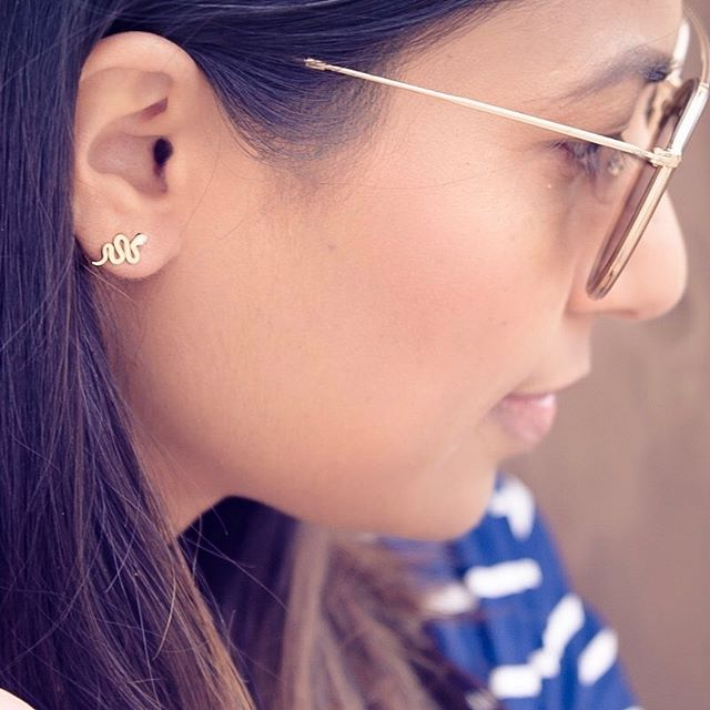 She loves them! @hpsstyle looking fab  in her ME&EM Snake Diamond Earrings. #meandemforgood #forgood #snakeearrings #shelovesthem #diamond