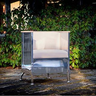 INOX by Mats Theselius   celebrating the 25th anniversary of the Aluminium chair   Limited edition of 199. Available at L.S.M.D. Link in bio. #matstheselius #addesignshow #contemporaryfurniture #lsmdnyc @addesignshow