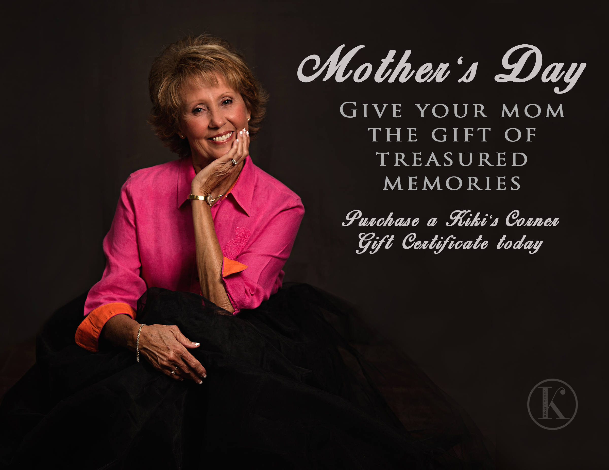 This is my beautiful mom! I treasure this portrait of her and the fun memories we made during this session.