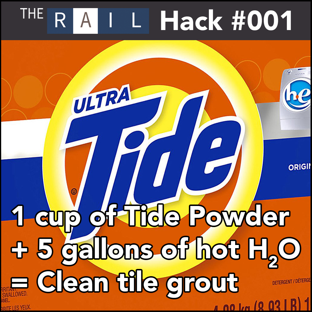 Rail Hack #001 - How to clean your restaurant's dirty tile grout.