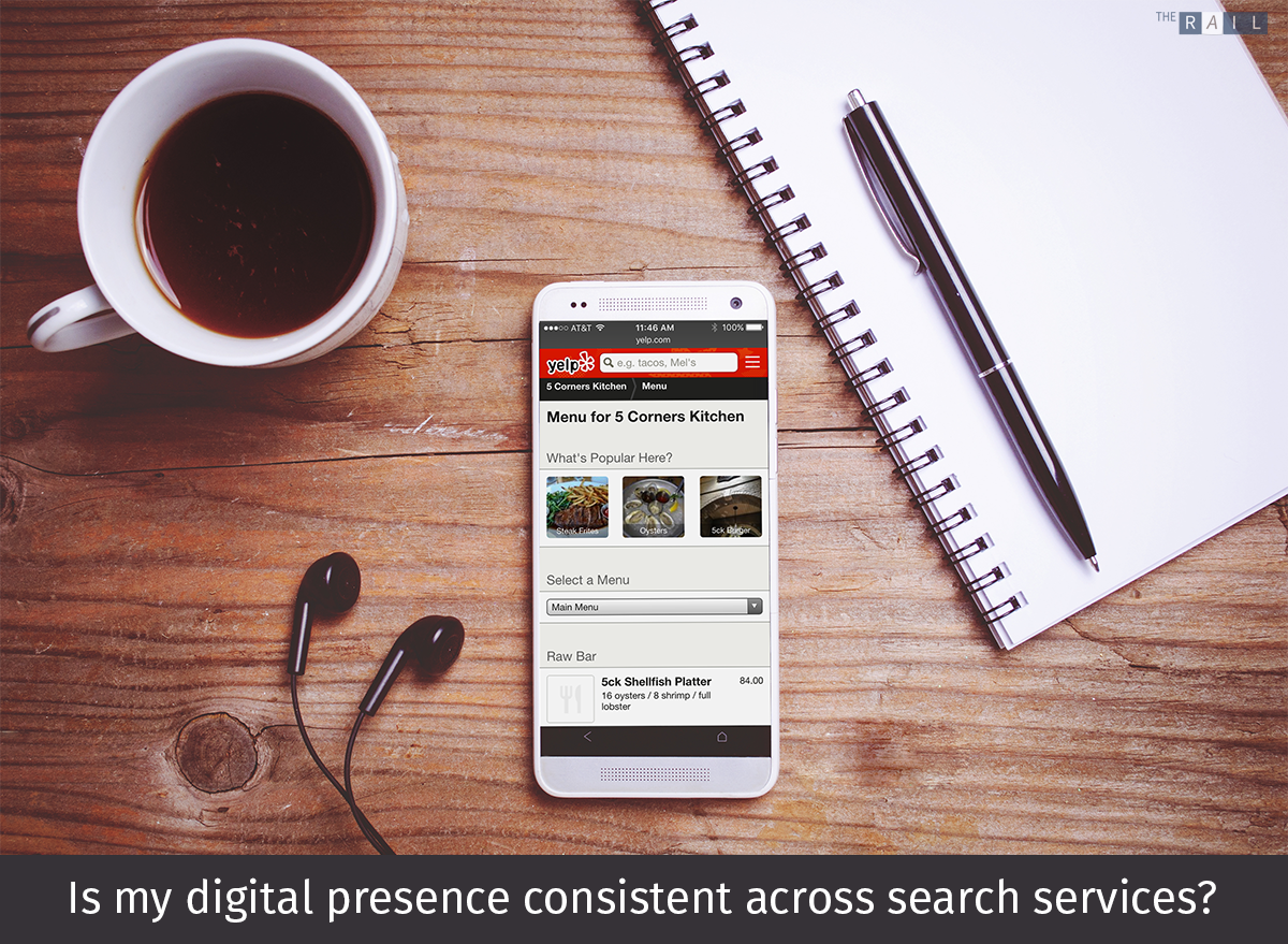 Is my restaurant's digital presence consistent across all the major local search services?