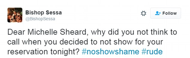 #NoShowShame takes on restaurant booking no-shows