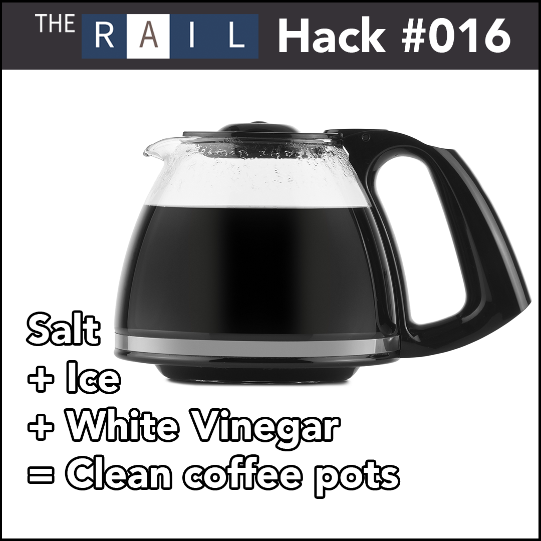 Here's a cool way of getting your dirty coffee pots clean.