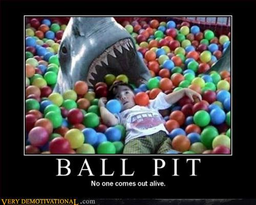 Ball pit shark meme