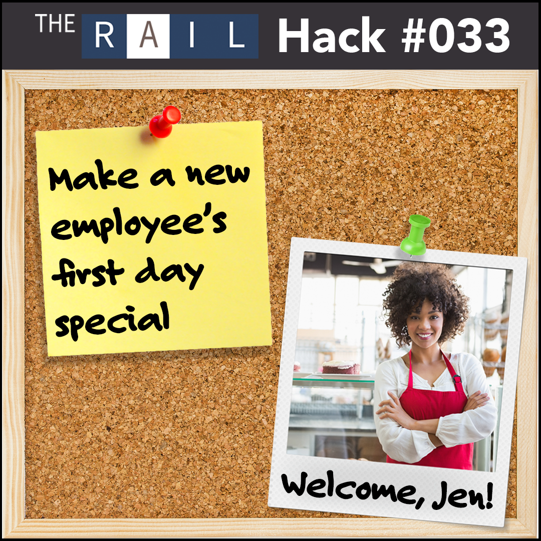 Make your new restaurant employee's first day special. Post their photo and a mini bio to feature them!