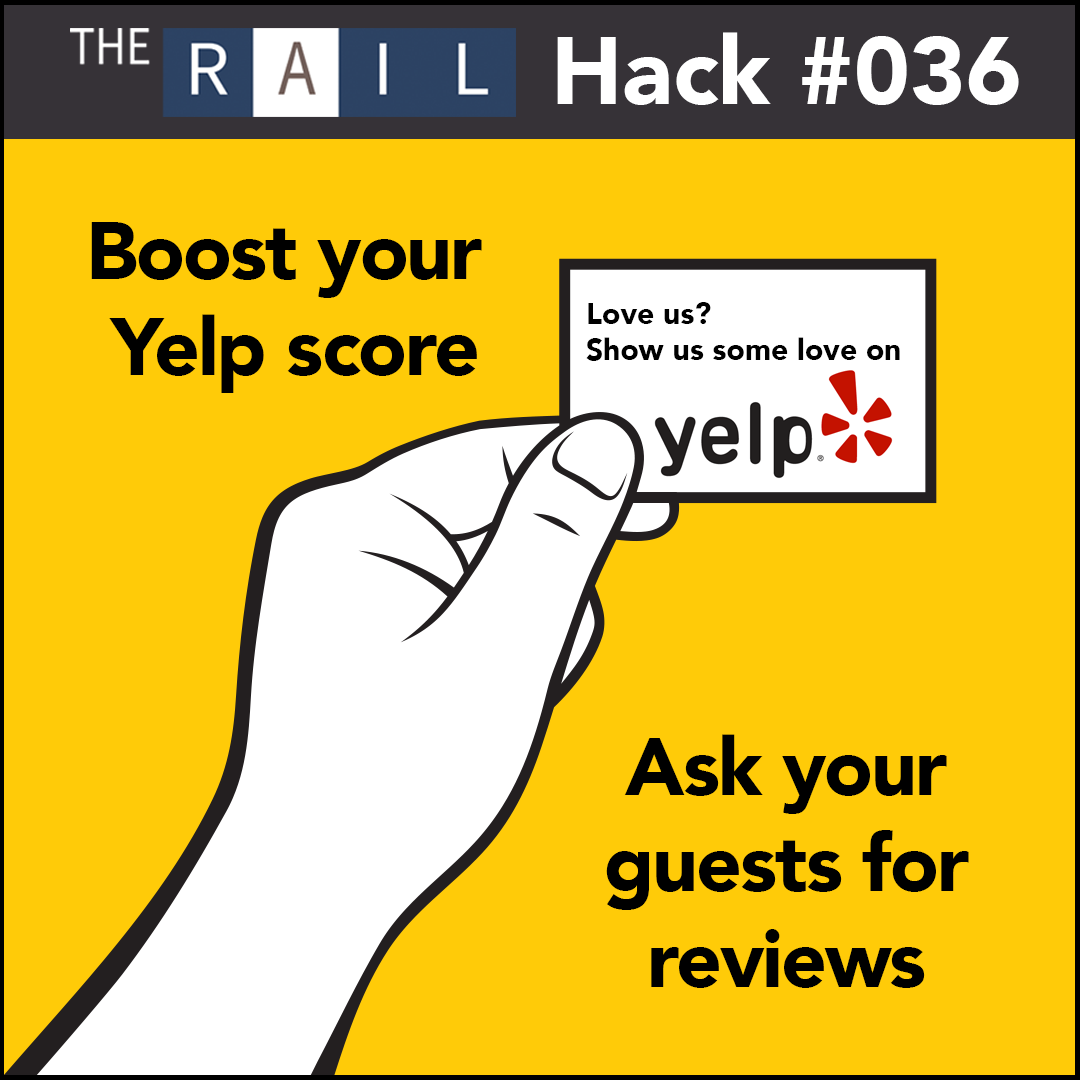 Restaurant marketing tip: Ask your guests for Yelp reviews