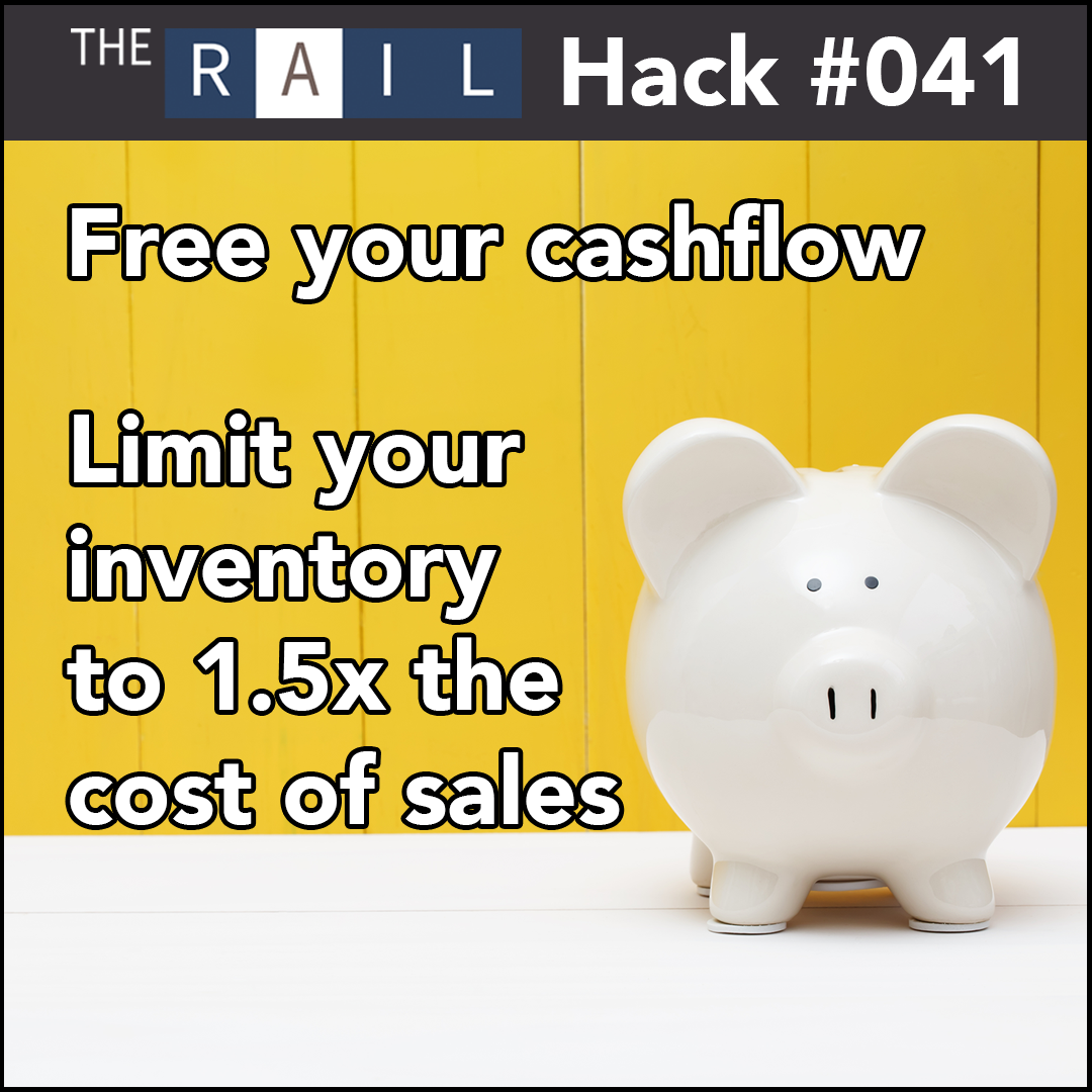 Restaurant financial tip: Limit your inventory to 1.5x your cost of sales