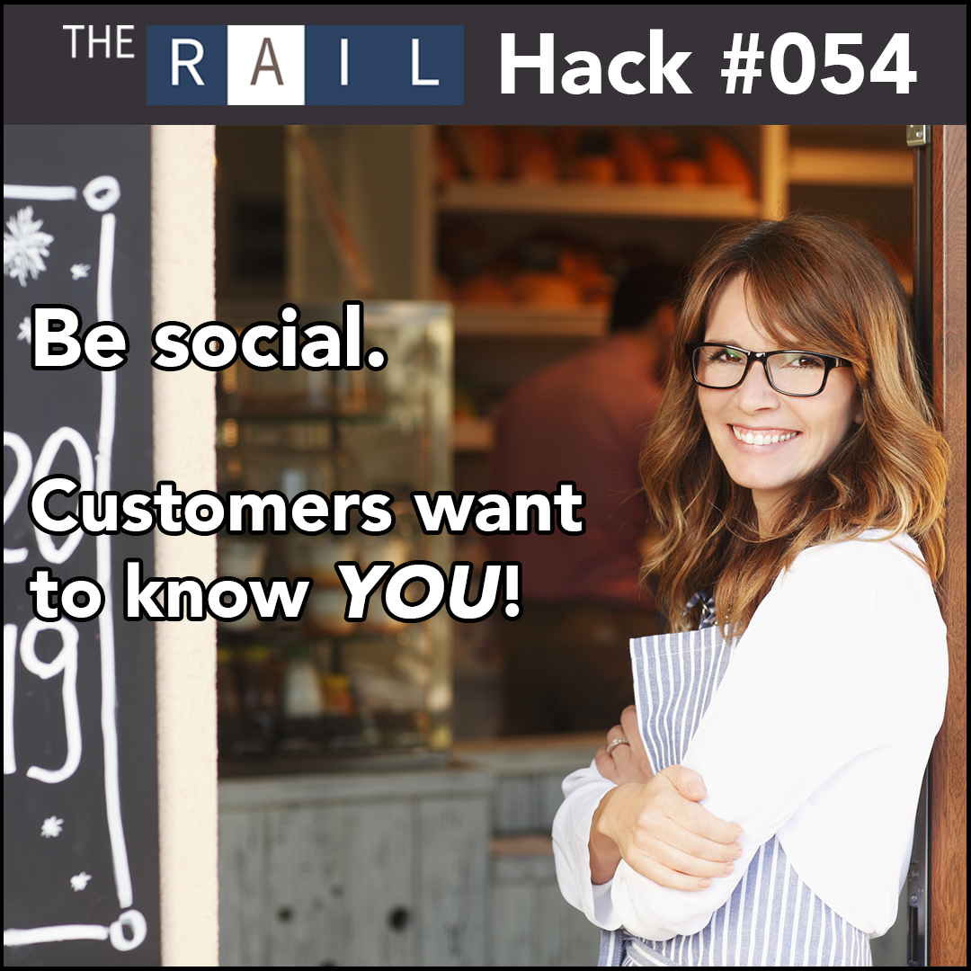 Restaurant management tip: Be social with your guests. They want to know who you are!