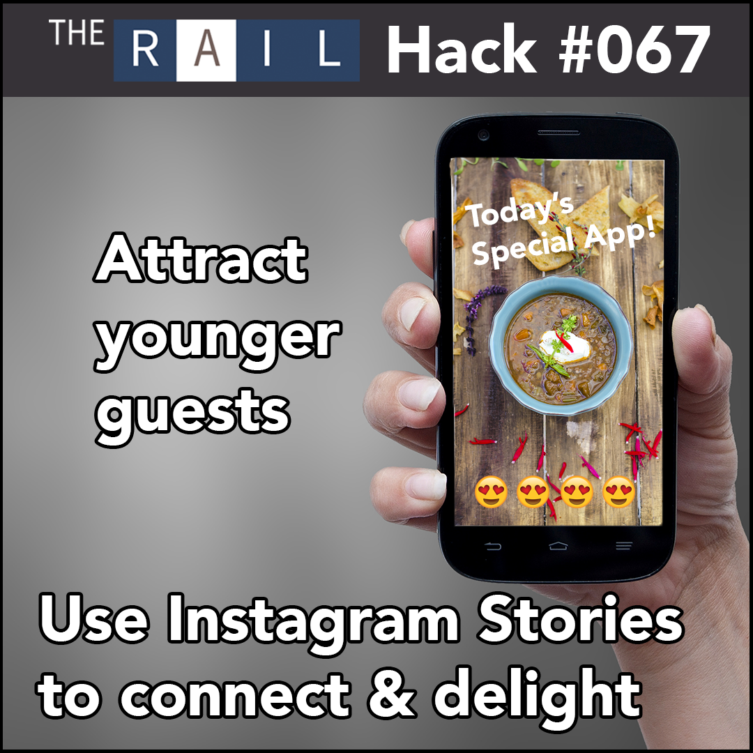 Use Instagram Stories to connect to diners and give them a call to action