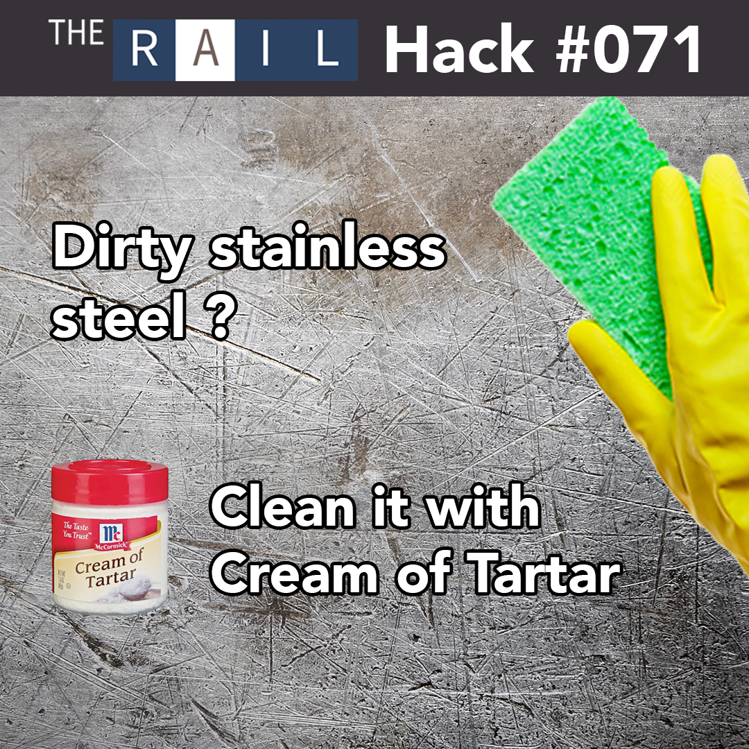 Hack #071 Clean Your Stainless Steel with Cream of Tartar
