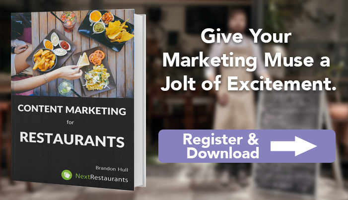 Give your restaurant's marketing muse a jolt of excitement.