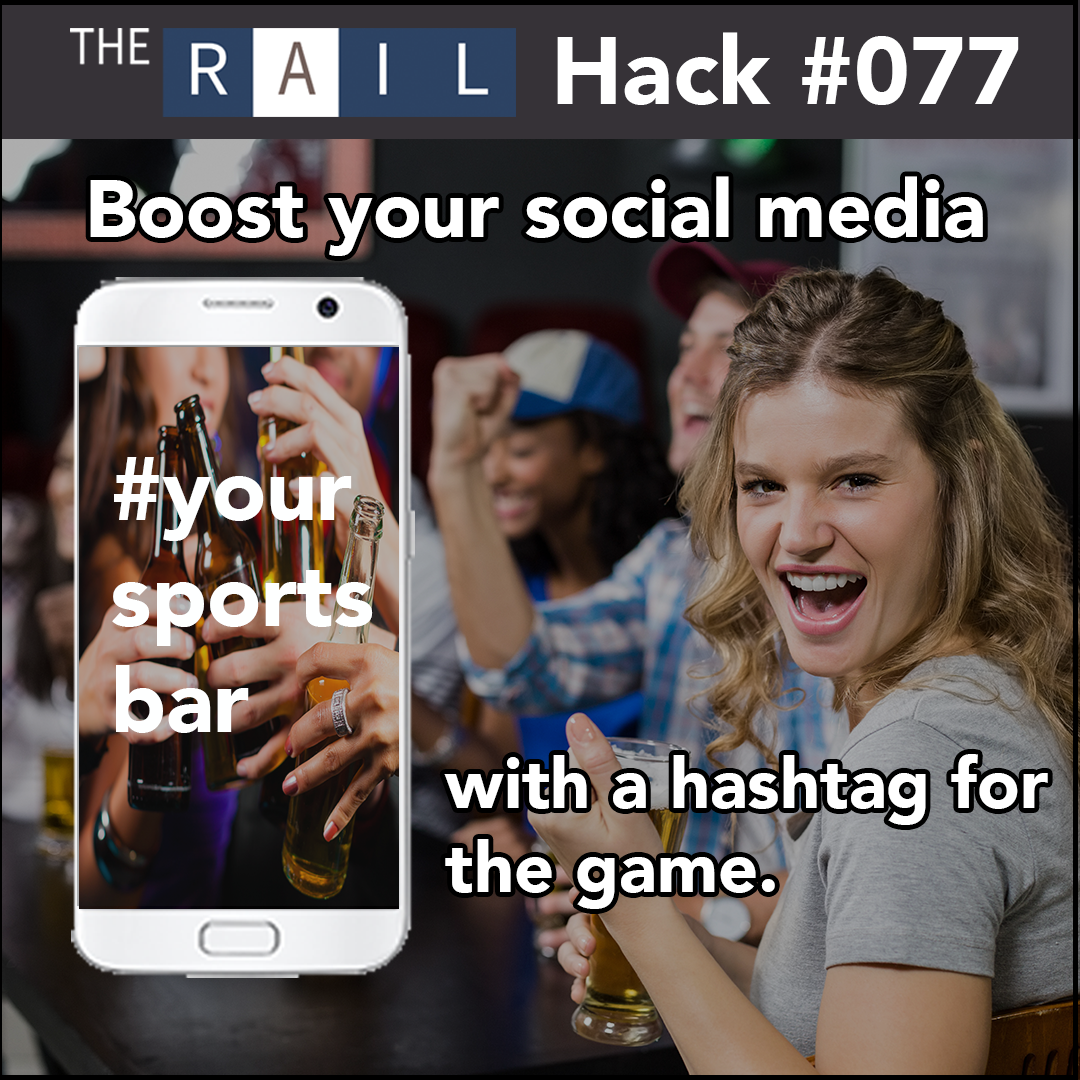 Boost your social media presence with a custom hashtag for the game.