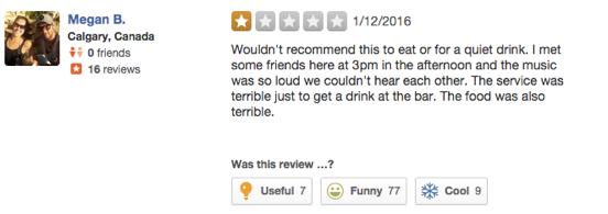 Dive bar review