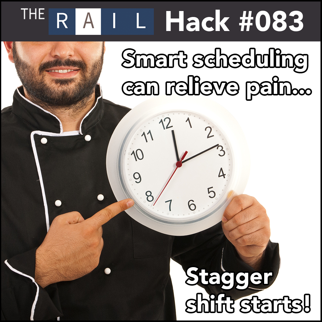 Restaurant staff management tip: Stagger staff's schedules to ease transitions.