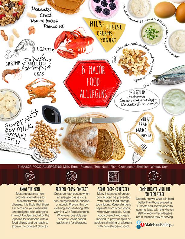 INFOGRAPHIC:8 Major Food Allergens Poster