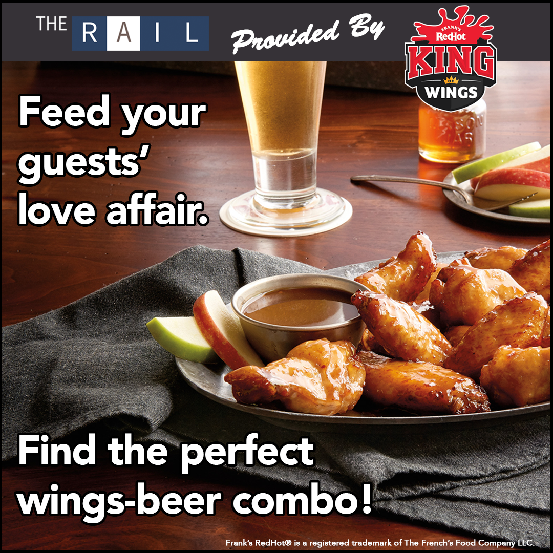 The key to a good buffalo wing's program? Finding the perfect wings-beer pairing. via Frank's RedHot King of Wings.