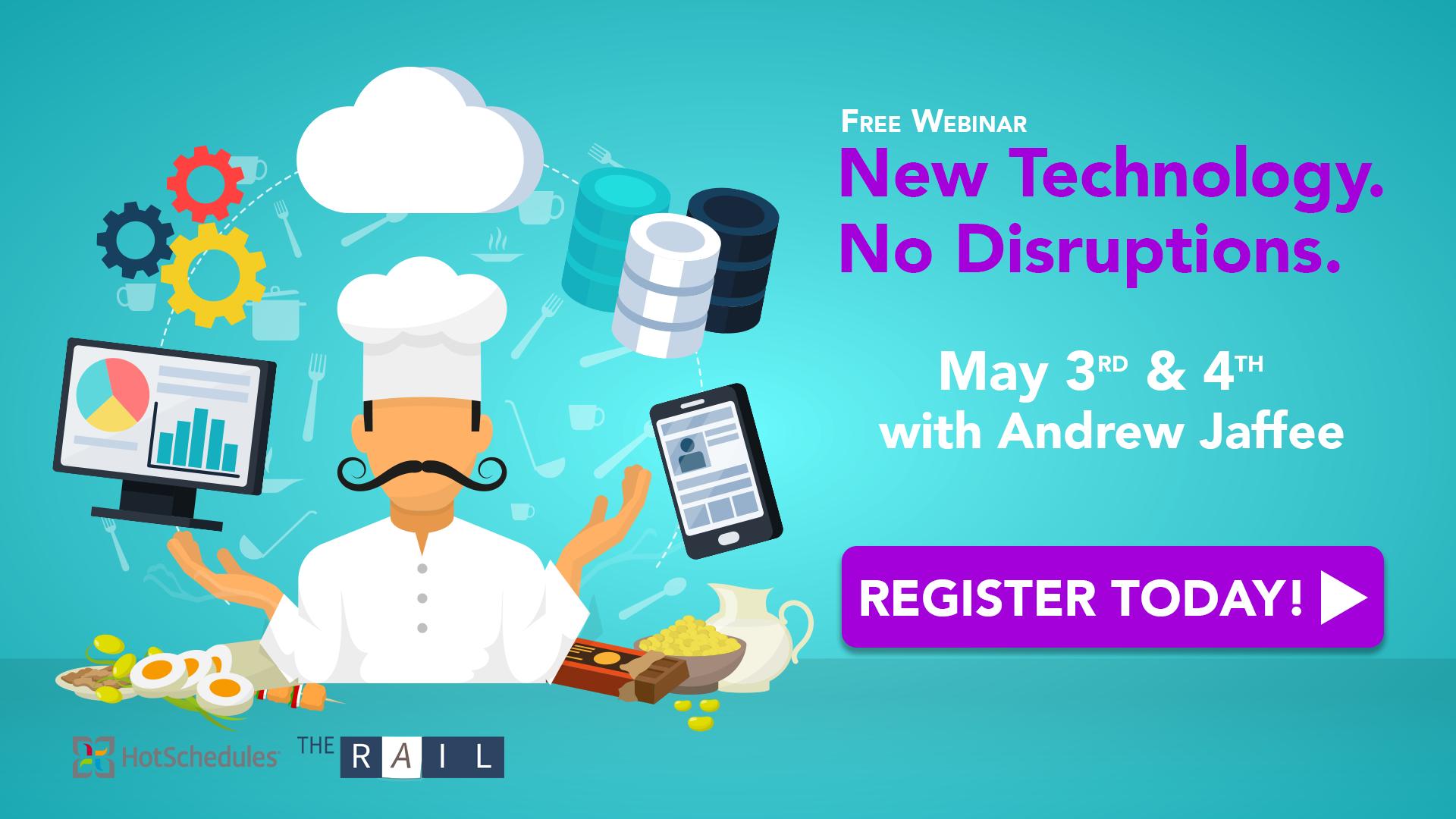 Register for the free Implementing New Restaurant Technology webinar