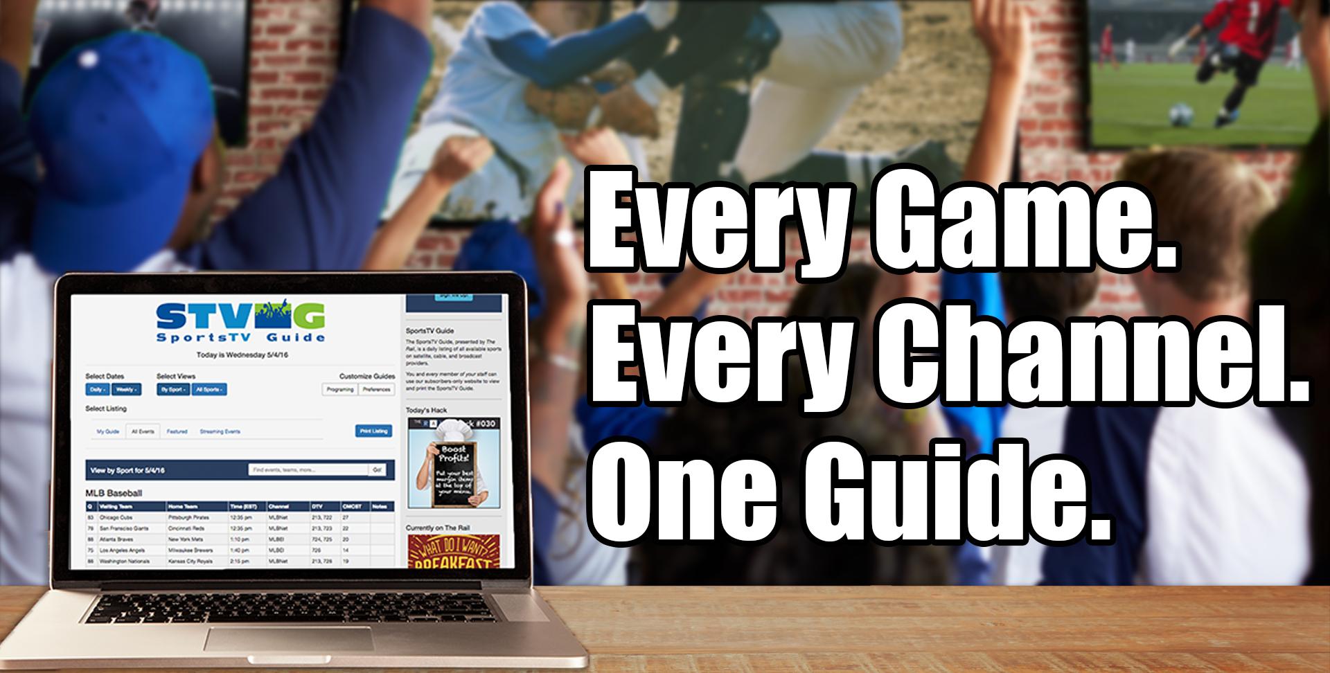 The SportsTV Guide for sports bars & restaurants