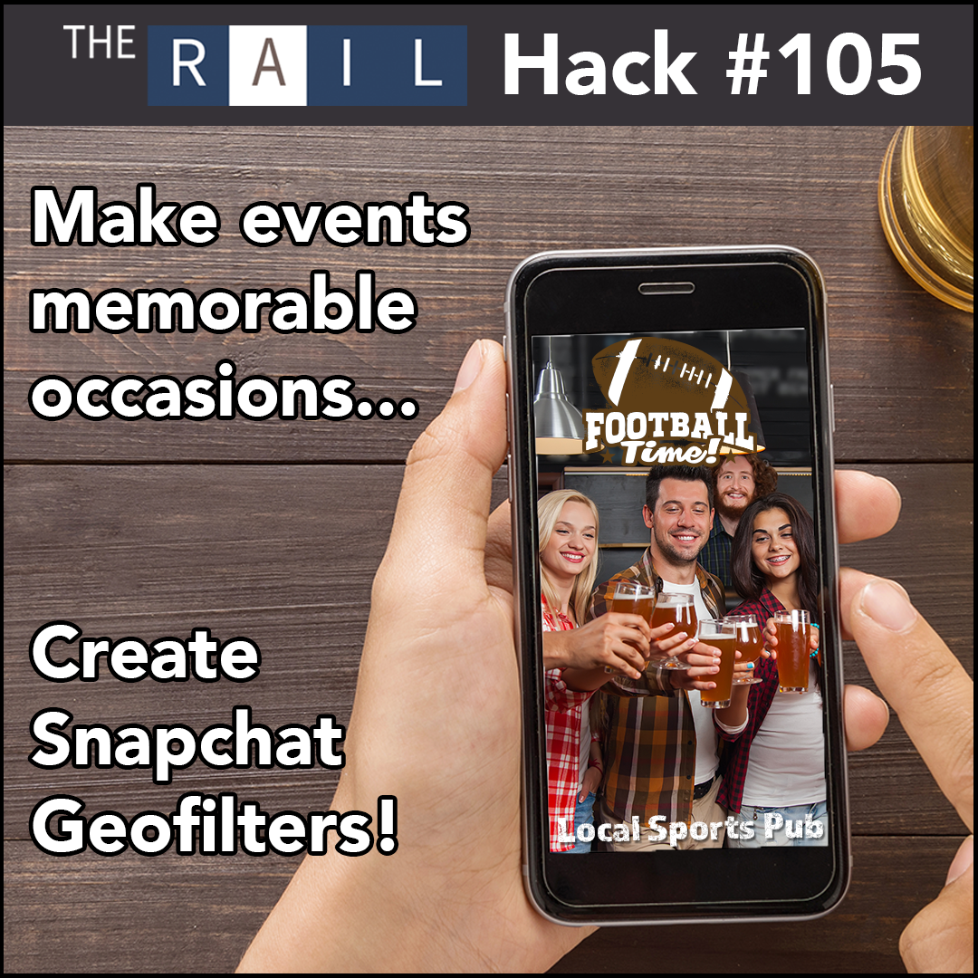 Restaurant social media marketing tip: Use Snapchat Geofilters to promote your big events