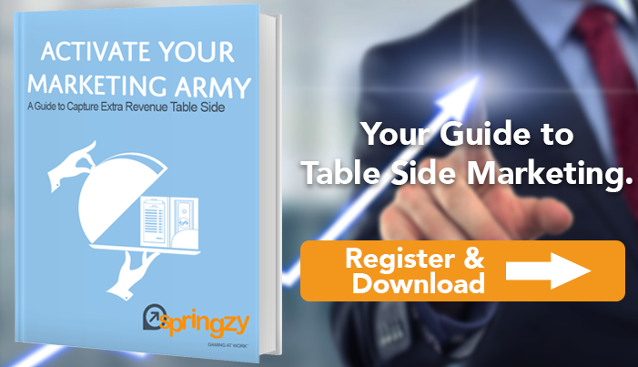 Boost your profits with table side marketing. Learn how to activate your restaurant's marketing army -- your staff!