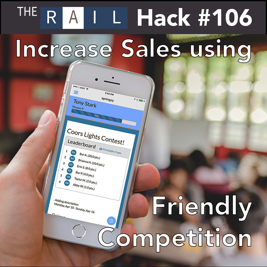 Restaurant sales hack: Increase your revenue by gamifying sales with staff.