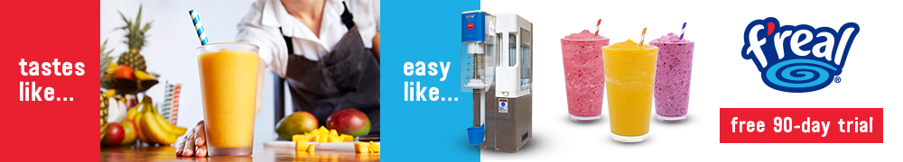 Try the f'real blender for free and improve your restaurant's frozen drink program
