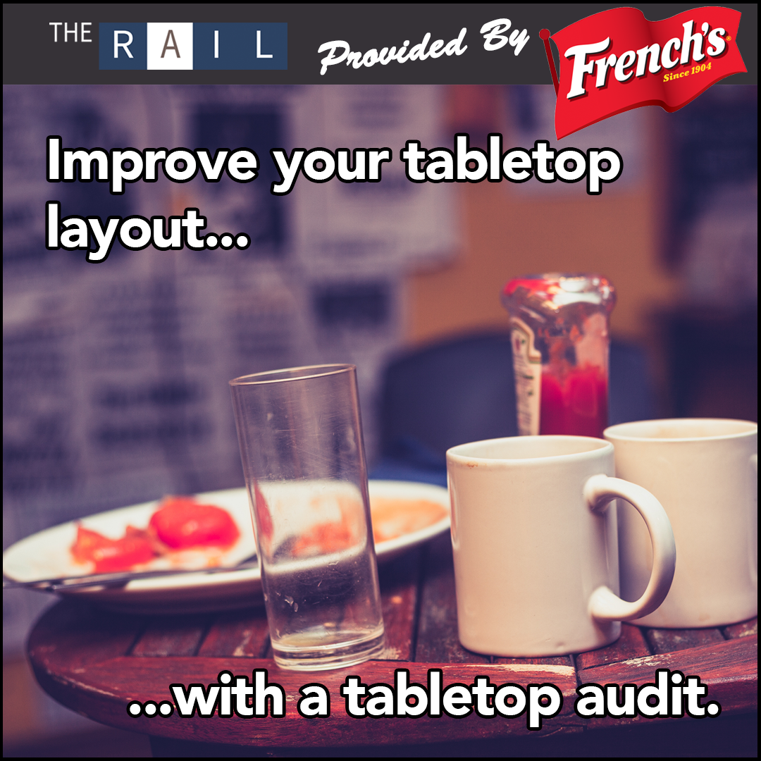 When was the last time you did a restaurant tabletop audit?