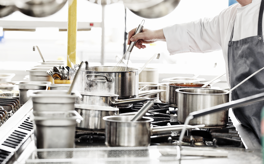 Reorganize your restaurant's kitchen so items are placed in areas that make sense to cooking staff.