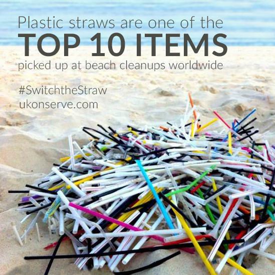 plastic straws beach