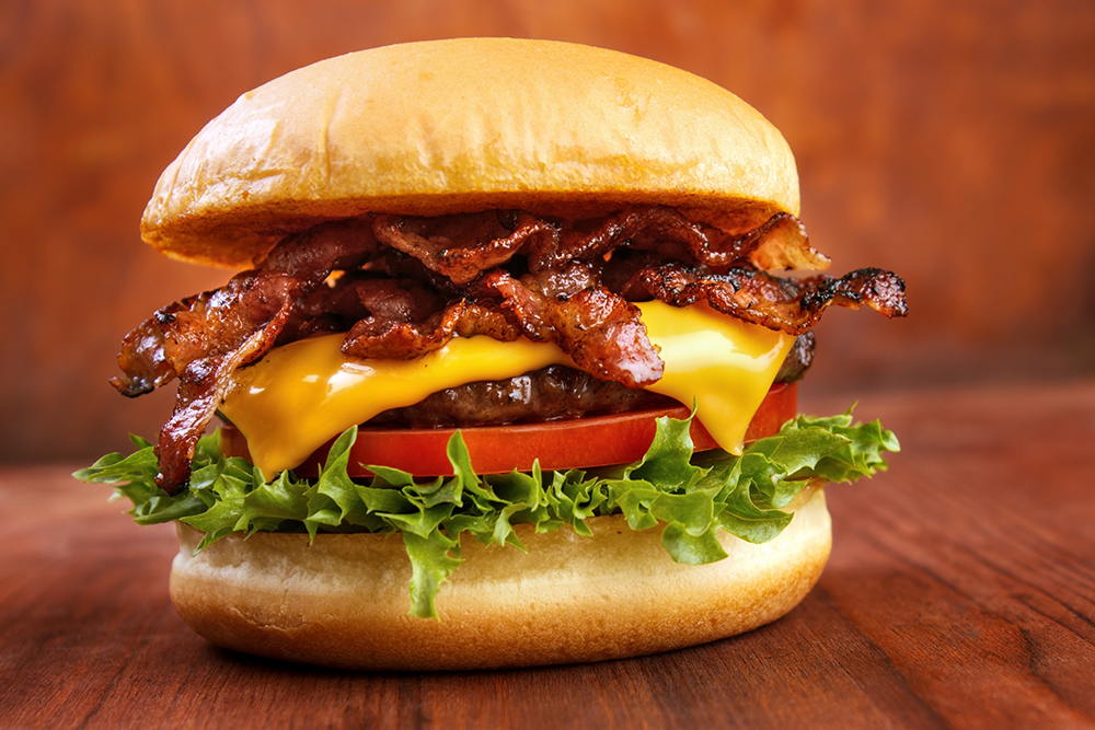 Bourdain Burger: Don't forget the bacon.