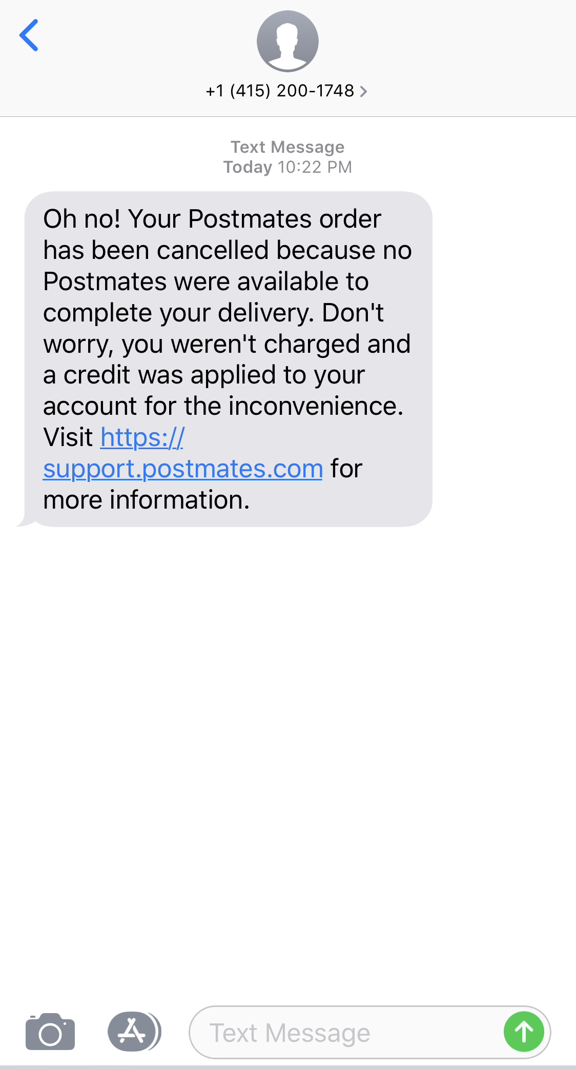 Postmates canceled two restaurant orders back to back nights.