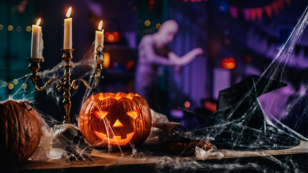 Set the tone at your restaurant this Halloween season with spooky decorations.
