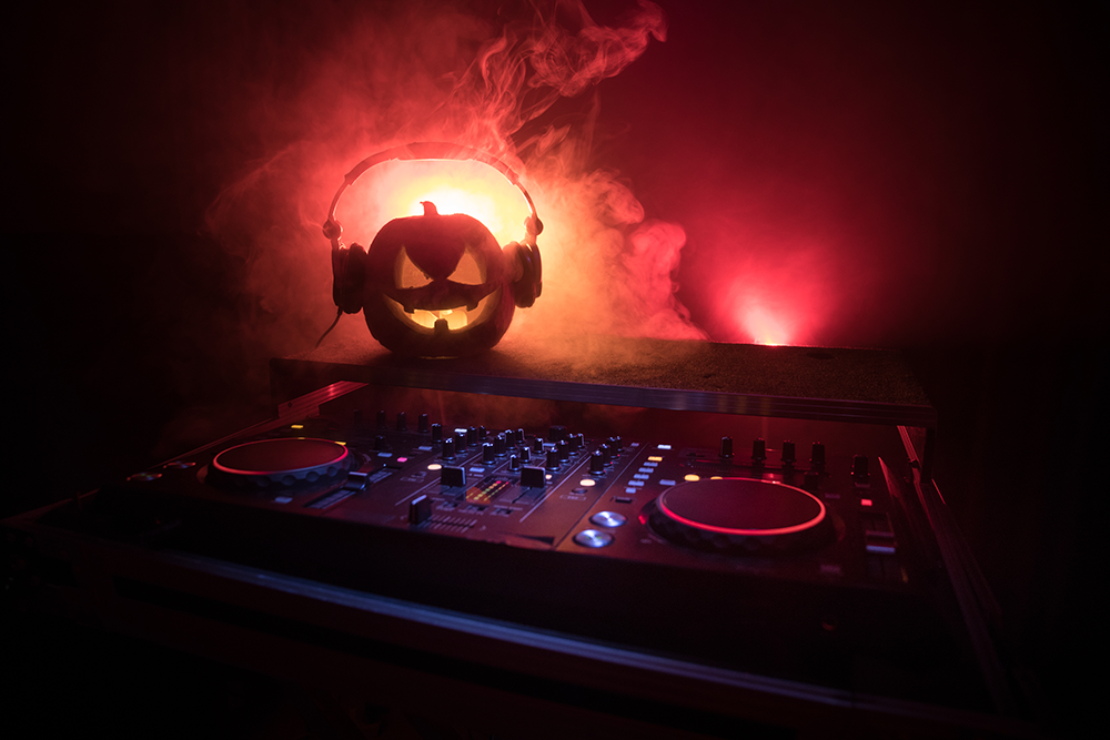 Set the Halloween ambiance at your restaurant with spooky music and lighting.