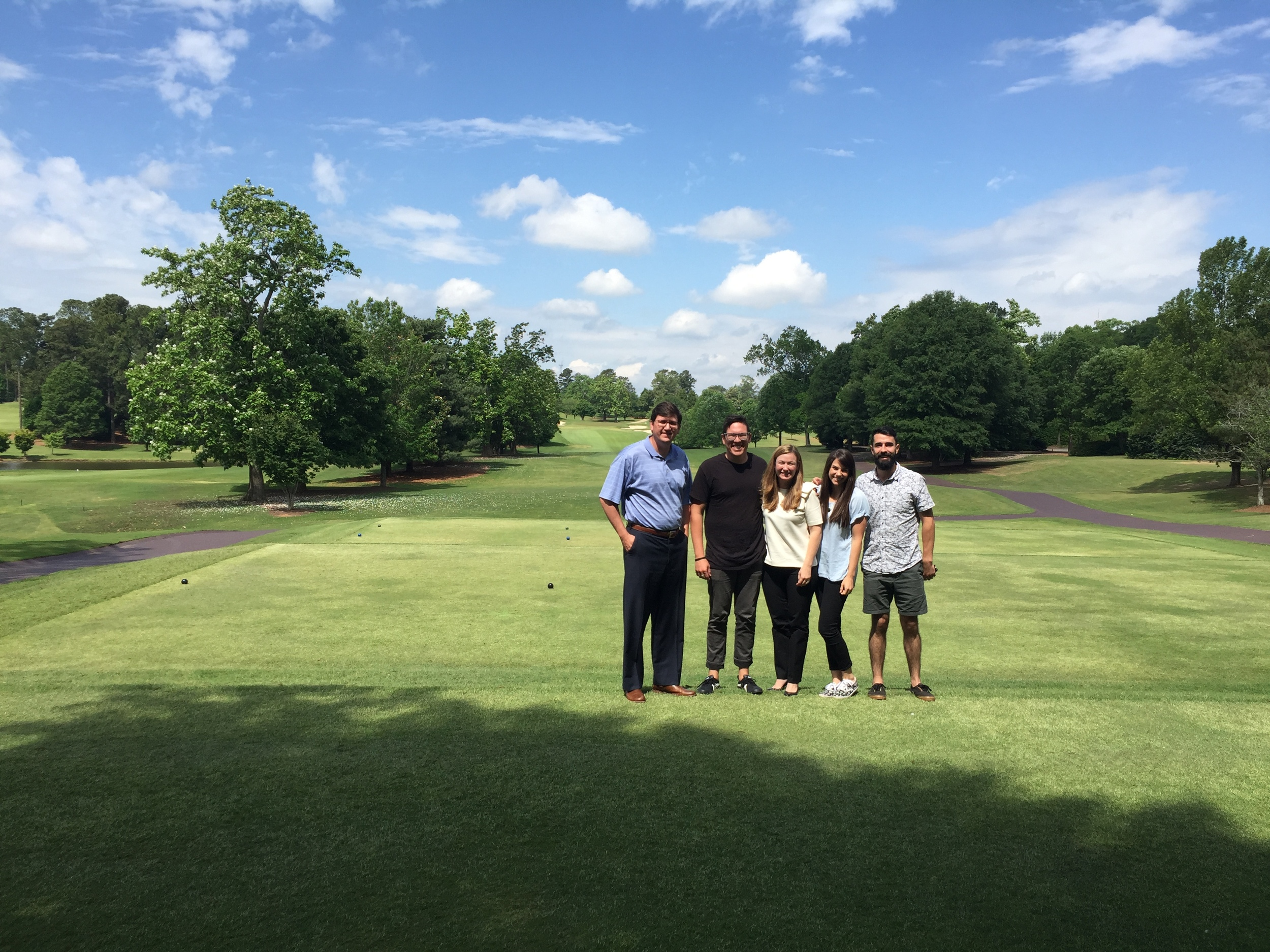 J.Rich Atlanta team at the East Lake Golf Course!