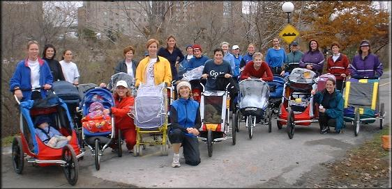 Our Strollercise group in fall 2002! (photo: Kelly Knoll)