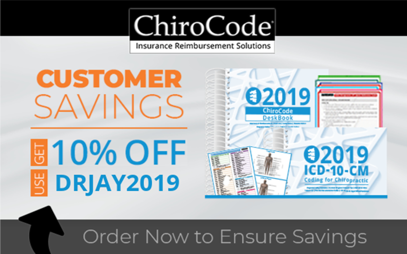 ChiroCode takes care of its Chiropractors by  simplifying the code selection process. Use these resources to understand how to work with your patients and their insurance. Maximize your reimbursement with proper billing, and avoid penalties when audits come by presenting thorough documentation. Use the promotion code drjay2019 to receive 10% off your purchase!
