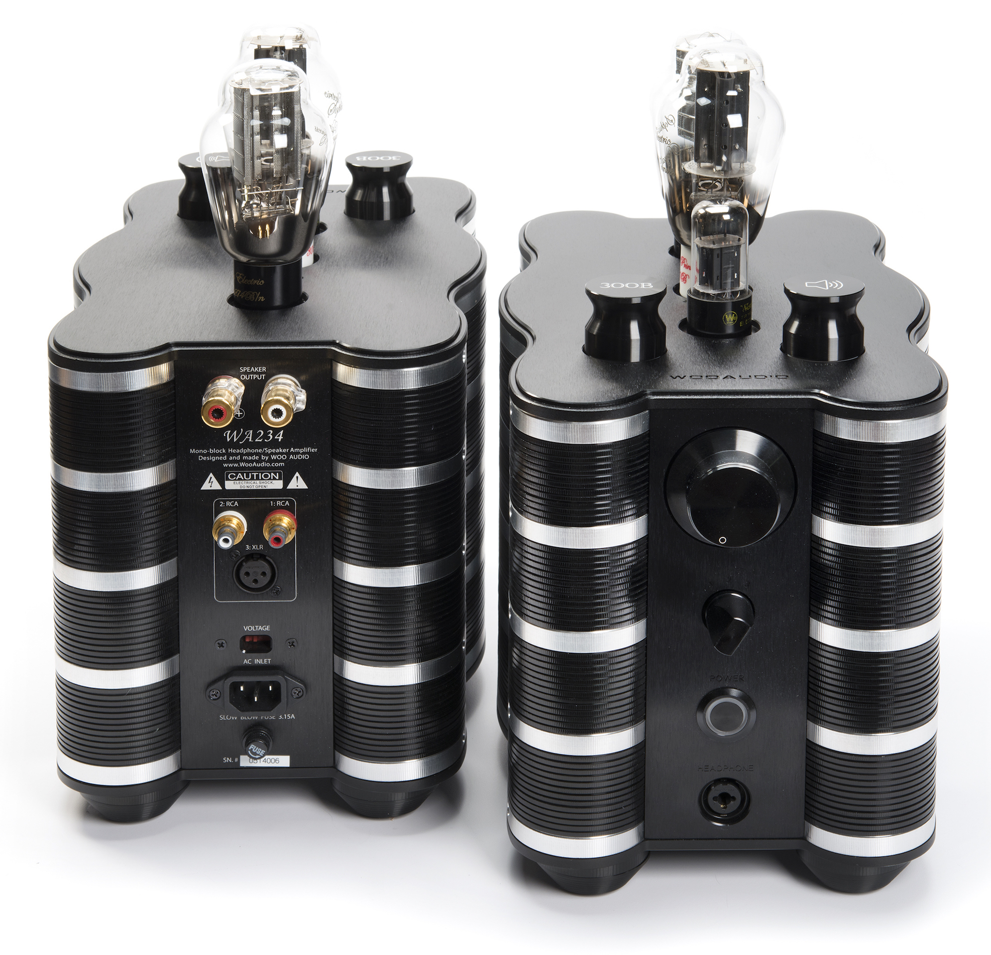 woo-audio-wa234mono-headphone-amplifier-black-front-highend-audiophile-vacuum-tube-headfi-300b-6sn7-274b-5u4g-tubes-preamplifier-powerful-amp