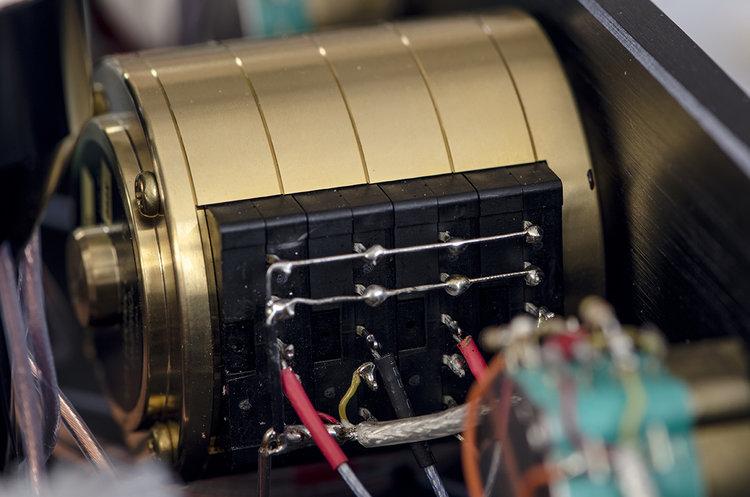 Alps RK50 4-channel volume control in brass enclosure