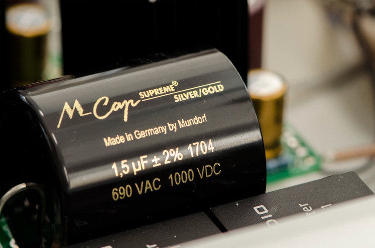 Mundorf MCap Supreme Silver/Gold capacitor for interstage coupling