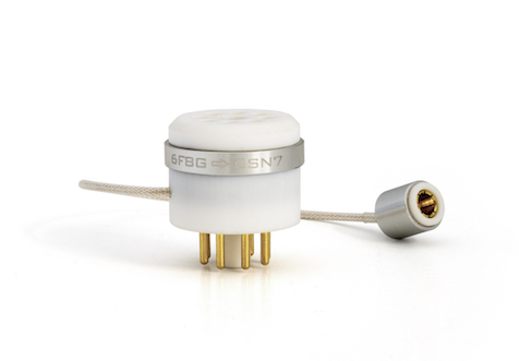 6F8G to 6SN7 adapter [OFC/silver-plated wire and aluminum cap]