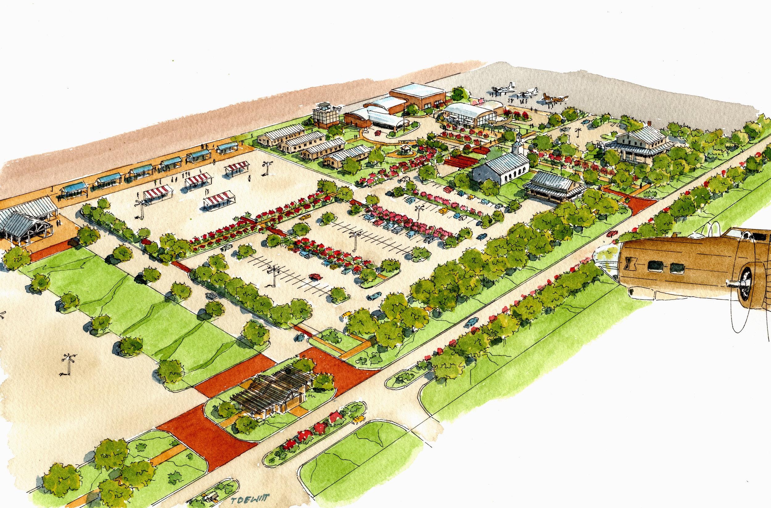 Stars & Stripes Village Master Plan in Halls, Tennessee