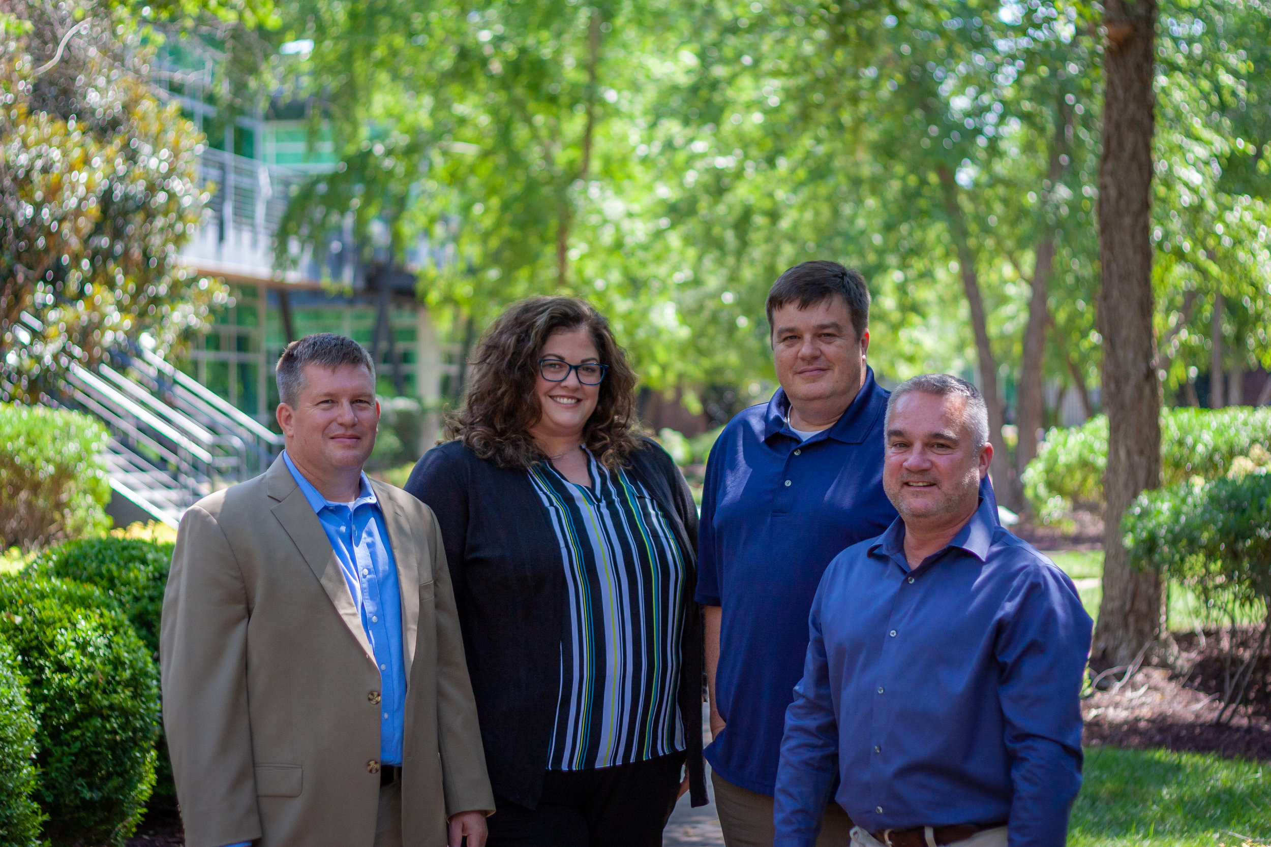 Senior Staff of A2H's New Nashville Office (from left to right): Arran Addington, Stacie Berry, Rick McAllister, AIA, Shane Brewer, AIA.