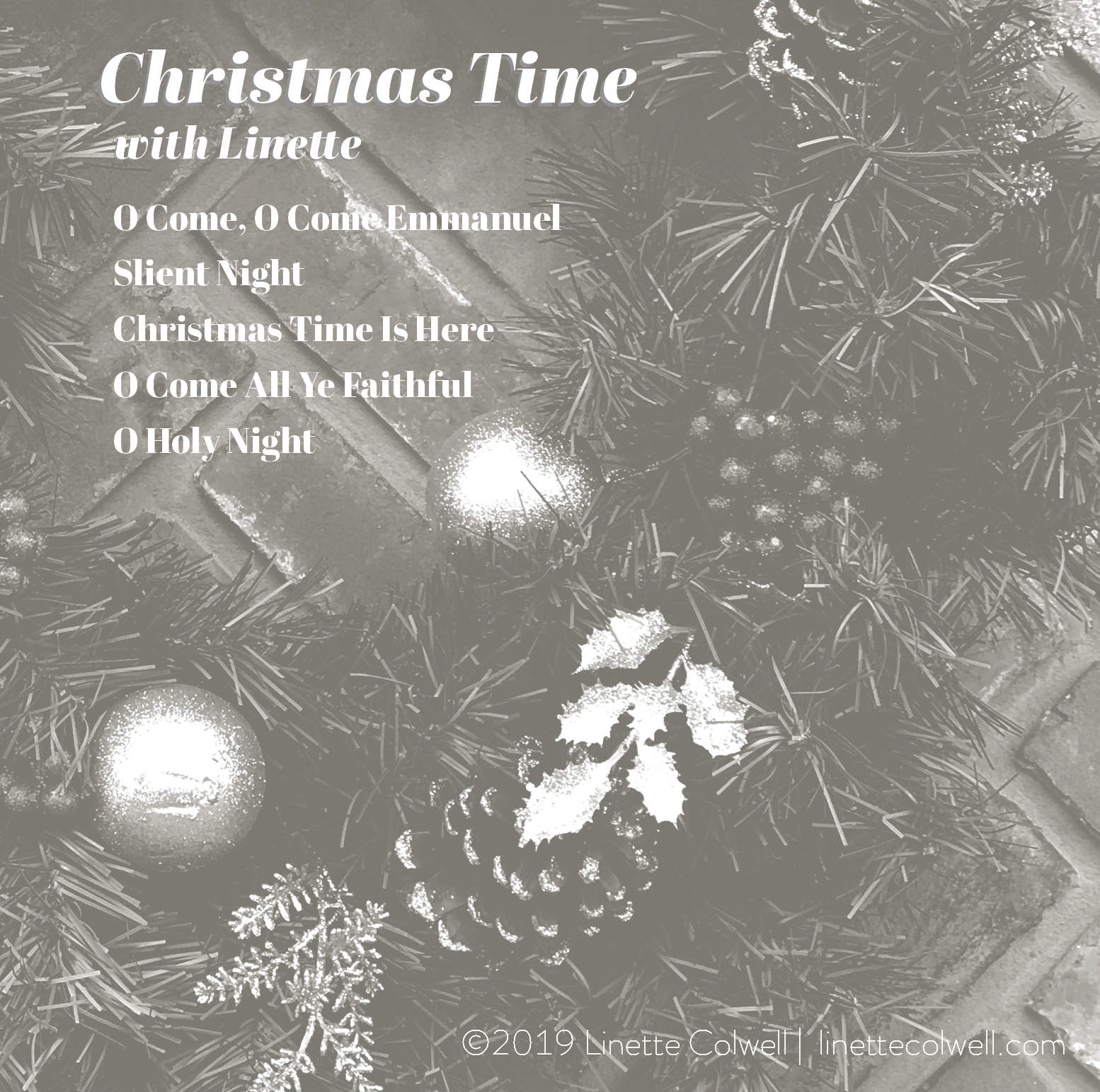 CD Cover for Linette Colwell Christmas EP - Back