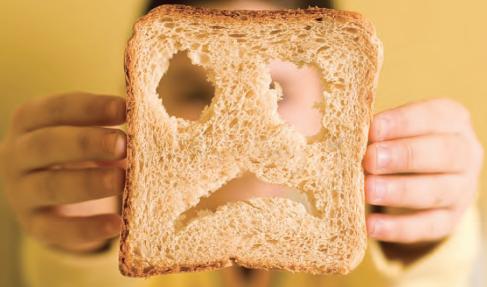 gluten sad toast