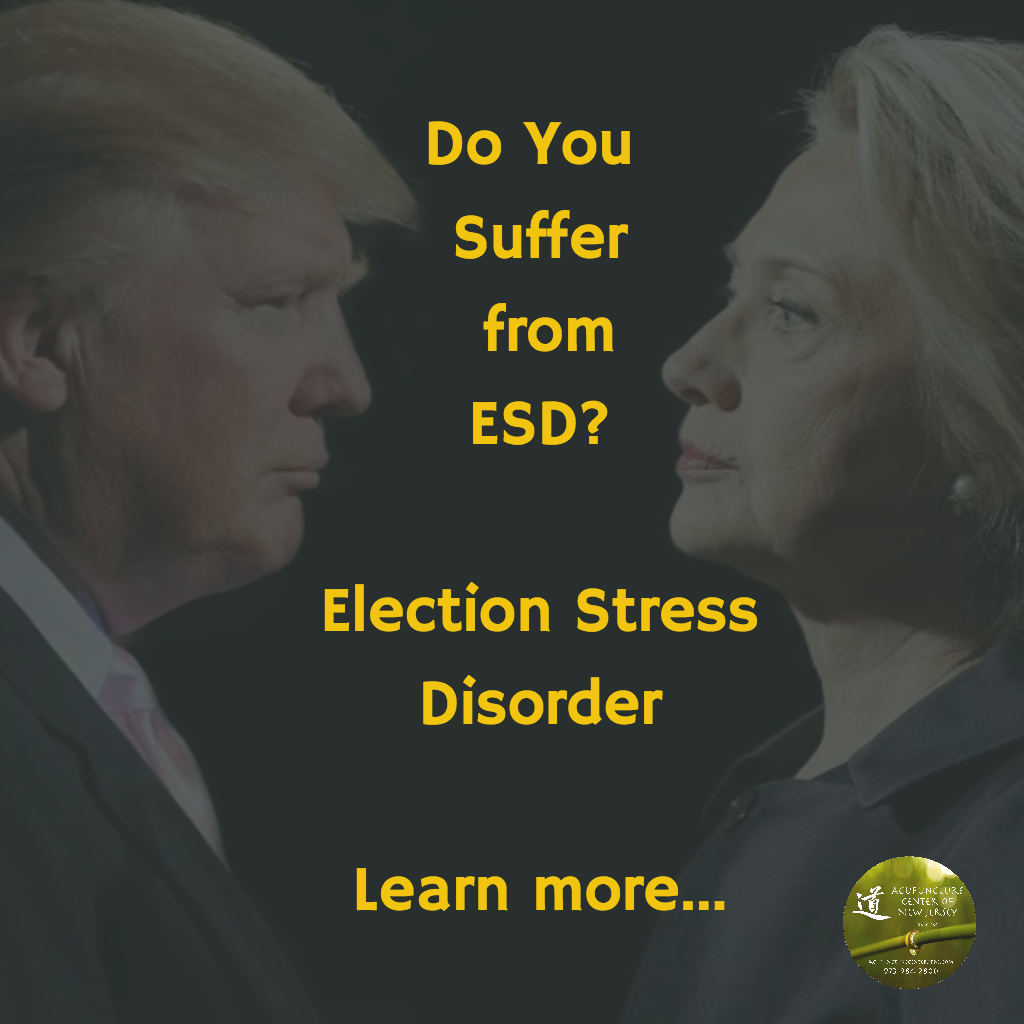 ESD = Election Stress Disorder... learn more below.